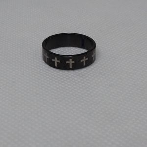 Sale Blac cross stainless steel ring Size 7 & 1/2